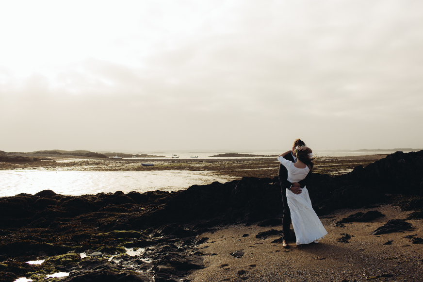 Anglesey beach wedding photography