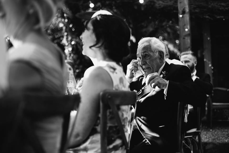 Emotional speechese, Grandad at Didsbury House Hotel wedding