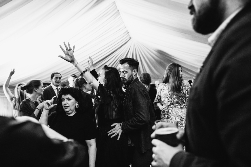 Anglesey wedding photography dance floor antics