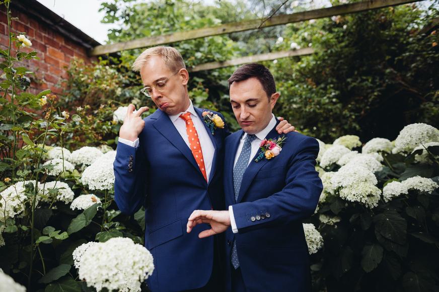 Dewsall Court same sex wedding photography
