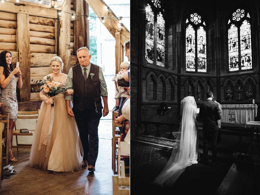 Manchester wedding photographer Pimhill Barn wedding confetti